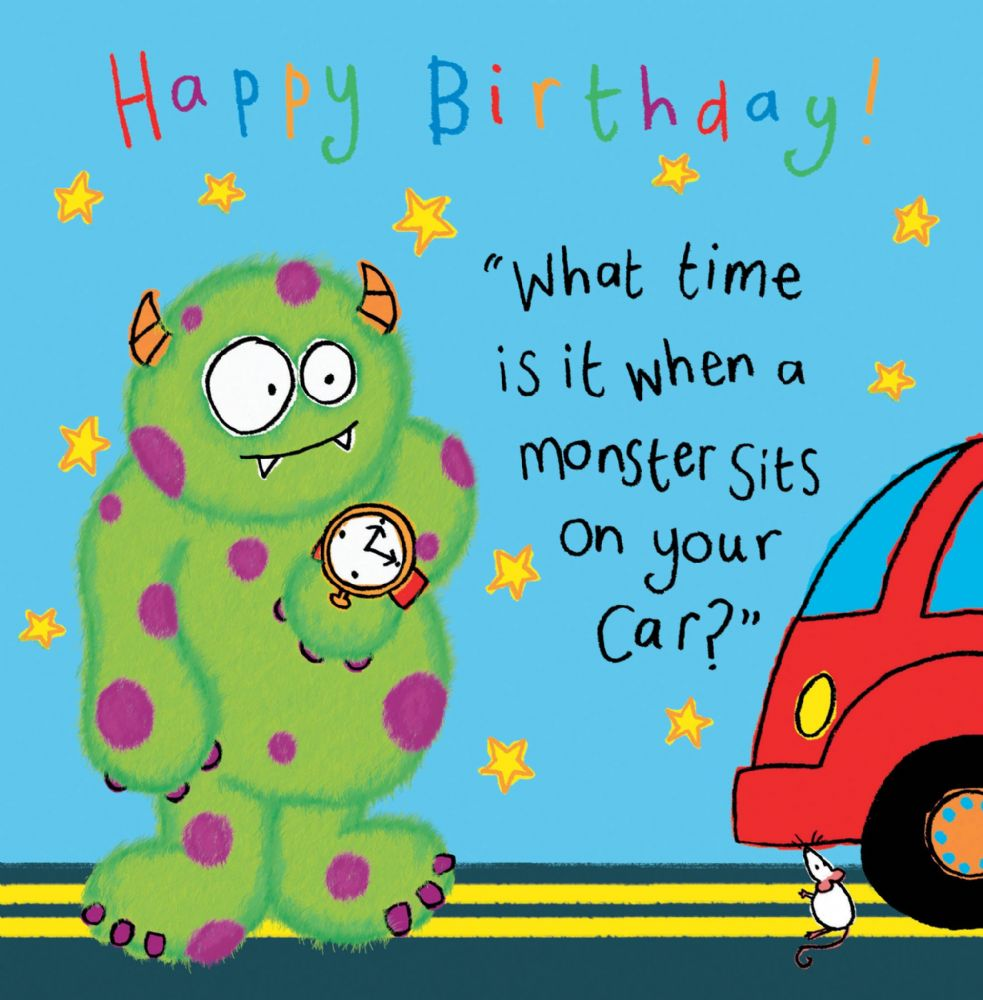 Monster Funny Joke Birthday Card For Kids TW430